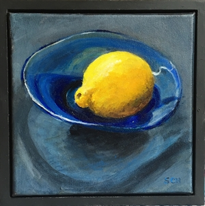 Blue Glass - Lemon