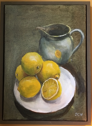Jug with Lemons