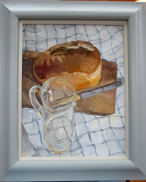 Bread with Glass Jug