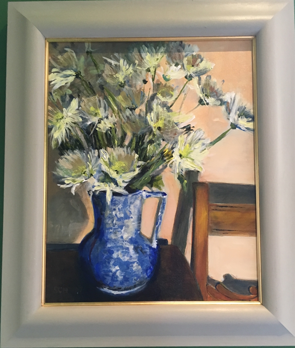 Chrysanthemums in Shade by Sarah Heelis