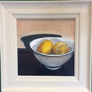Lemons in White bowl (left)