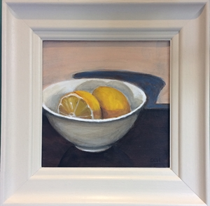 Lemons in White bowl (right)